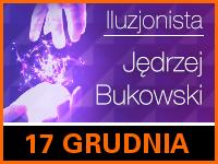Iluzjonista Jędrzej Bukowski - Bilety: 20/25zł @ CKE Czerwionka-Leszczyny